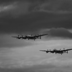 Both Avro Lancasters Flying Together